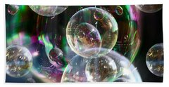 Hand Towel featuring the photograph Bubbles And More Bubbles by Nareeta Martin