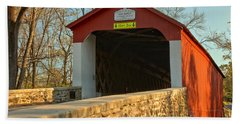 Bucks County Van Sant Covered Bridge Hand Towel