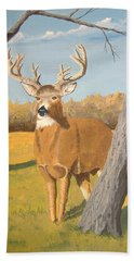 Bucky The Deer Bath Towel by Norm Starks