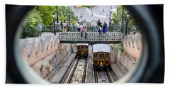 Budapest Castle Hill Funicular Hand Towel
