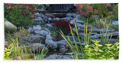 Bath Towel featuring the photograph Buddha Water Pond by Brenda Brown
