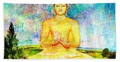 Buddha Bath Towel by Ally  White
