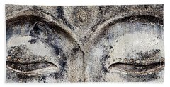 Hand Towel featuring the photograph Buddha Eyes by Roselynne Broussard