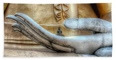 Buddha's Hand Hand Towel by Adrian Evans