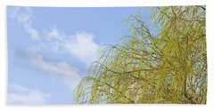 Hand Towel featuring the photograph Budding Willow by Tom Gowanlock