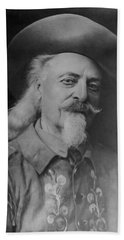 Hand Towel featuring the photograph Buffalo Bill Cody by Charles Beeler