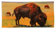 Buffalo Grazing Bath Towel