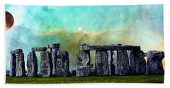 Building A Mystery 2 - Stonehenge Art By Sharon Cummings Hand Towel