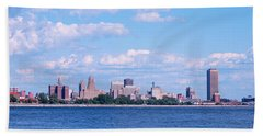 Buildings At The Waterfront, Buffalo Hand Towel