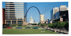 Buildings In A City, Gateway Arch, Old Hand Towel