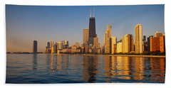 Buildings On The Waterfront, Chicago Bath Towel
