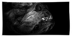 Bull Dog Bath Towel by Bob Orsillo