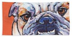 Bulldog Bath Towel