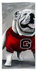 Uga Bulldog College Mascot Dawg Bath Towel