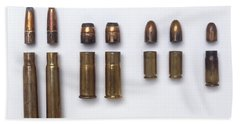Bullets And Brass Casings Bath Towel
