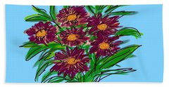 Hand Towel featuring the digital art Bunch Of Daisies by Christine Fournier