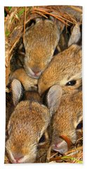Bath Towel featuring the photograph Bunny Babies by Patti Whitten