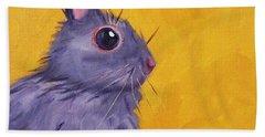 Bunny Bath Towel by Nancy Merkle