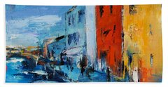 Burano Canal - Venice Hand Towel by Elise Palmigiani