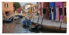 Burano Hand Towel by Debi Demetrion