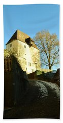 Bath Towel featuring the photograph Burgdorf Castle In December by Felicia Tica