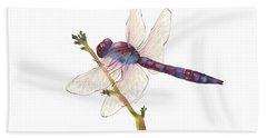 Burgundy Dragonfly Bath Towel