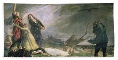 Burial At La Moncloa In May 1808 Oil On Canvas Hand Towel