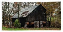 Hand Towel featuring the photograph Burley Tobacco  Barn by Debbie Green