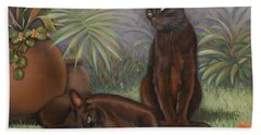 Bath Towel featuring the painting Burmese Beauty by Cynthia House