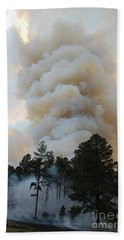 Burnout Near Song Dog Road Bath Towel by Bill Gabbert