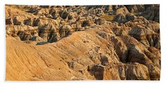 Burns Basin Overlook Badlands National Park Bath Towel