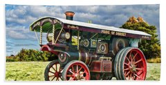 Bath Towel featuring the digital art Burrell Showmans Engine by Paul Gulliver
