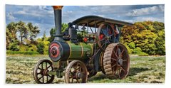 Bath Towel featuring the digital art Burrell Steam Engine  by Paul Gulliver