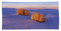 Bushes At White Sands National Bath Towel