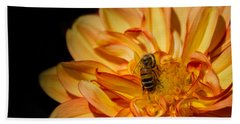 Busy Bee Dahlia Bath Towel