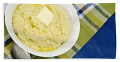 Cheese Grits With A Pat Of Butter Hand Towel