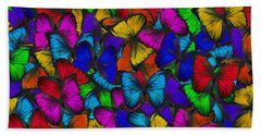 Bath Towel featuring the photograph Butterflies In Flight Panorama by Kyle Hanson