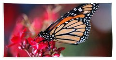 Bath Towel featuring the photograph Butterfly 2 by Leticia Latocki