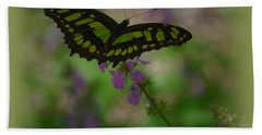 Bath Towel featuring the photograph Butterfly 4 by Leticia Latocki