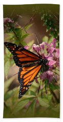 Bath Towel featuring the photograph Butterfly 5 by Leticia Latocki