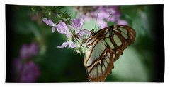 Bath Towel featuring the photograph Butterfly 7 by Leticia Latocki