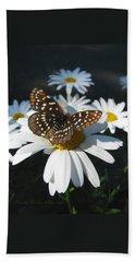 Butterfly And Shasta Daisy - My Spring Garden Bath Towel by Brooks Garten Hauschild