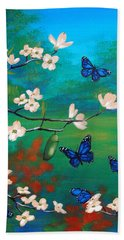 Butterfly Blue Bath Towel