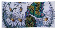 Butterfly Circle Bath Towel by Megan Walsh