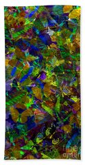 Hand Towel featuring the photograph Butterfly Collage Yellow by Robert Meanor