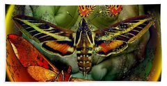 Butterfly Effect Blue Planet Hand Towel by Joseph Mosley