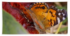 Hand Towel featuring the photograph Butterfly by Erika Weber