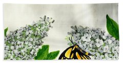 Butterfly Hand Towel by Francine Heykoop