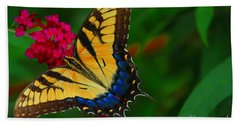 Bath Towel featuring the photograph Butterfly by Geraldine DeBoer