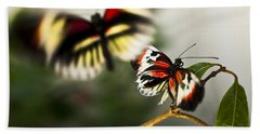 Butterfly In Flight Bath Towel